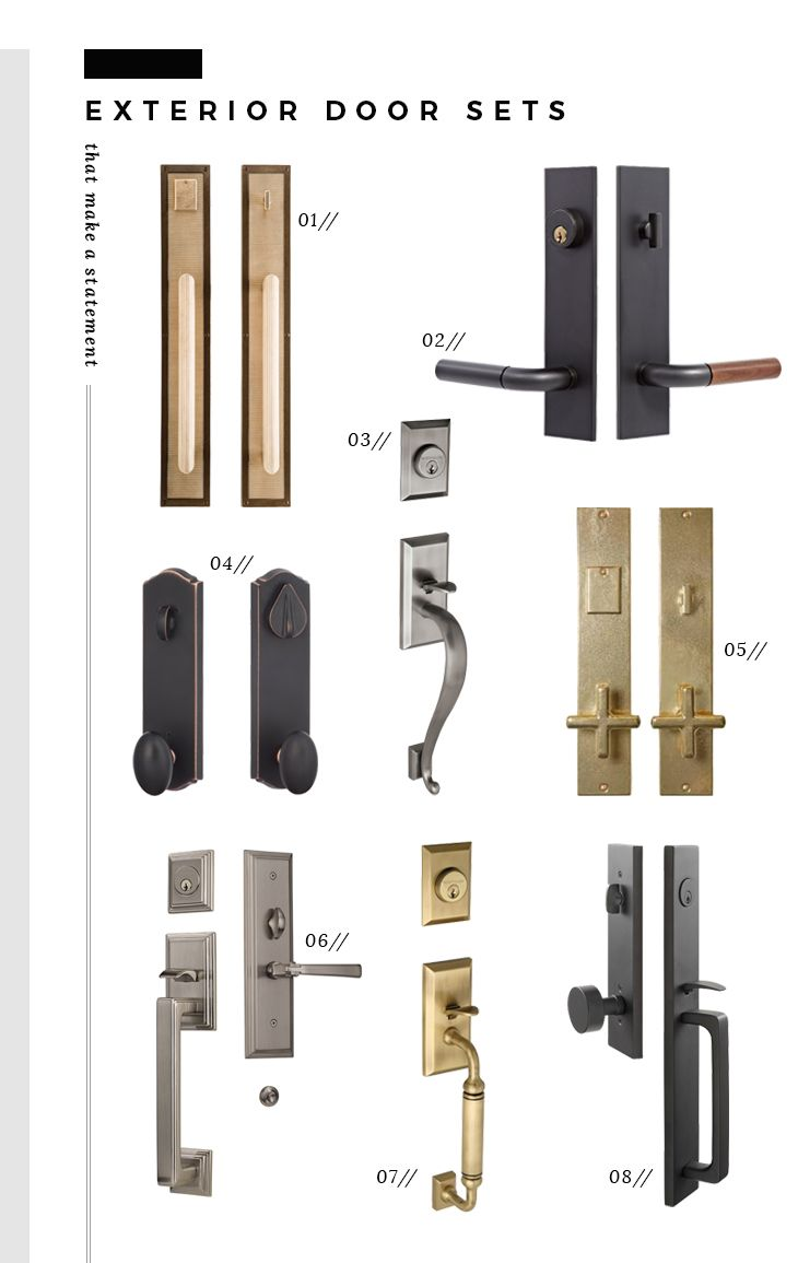 Statement Door Knobs Painted Exterior Doors, Exterior Door Hardware, Modern Exterior  Doors, Exterior