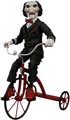 """Saw Puppet on Tricycle - 12"""" - Jigsaw - Scary …   Pinteres…"""