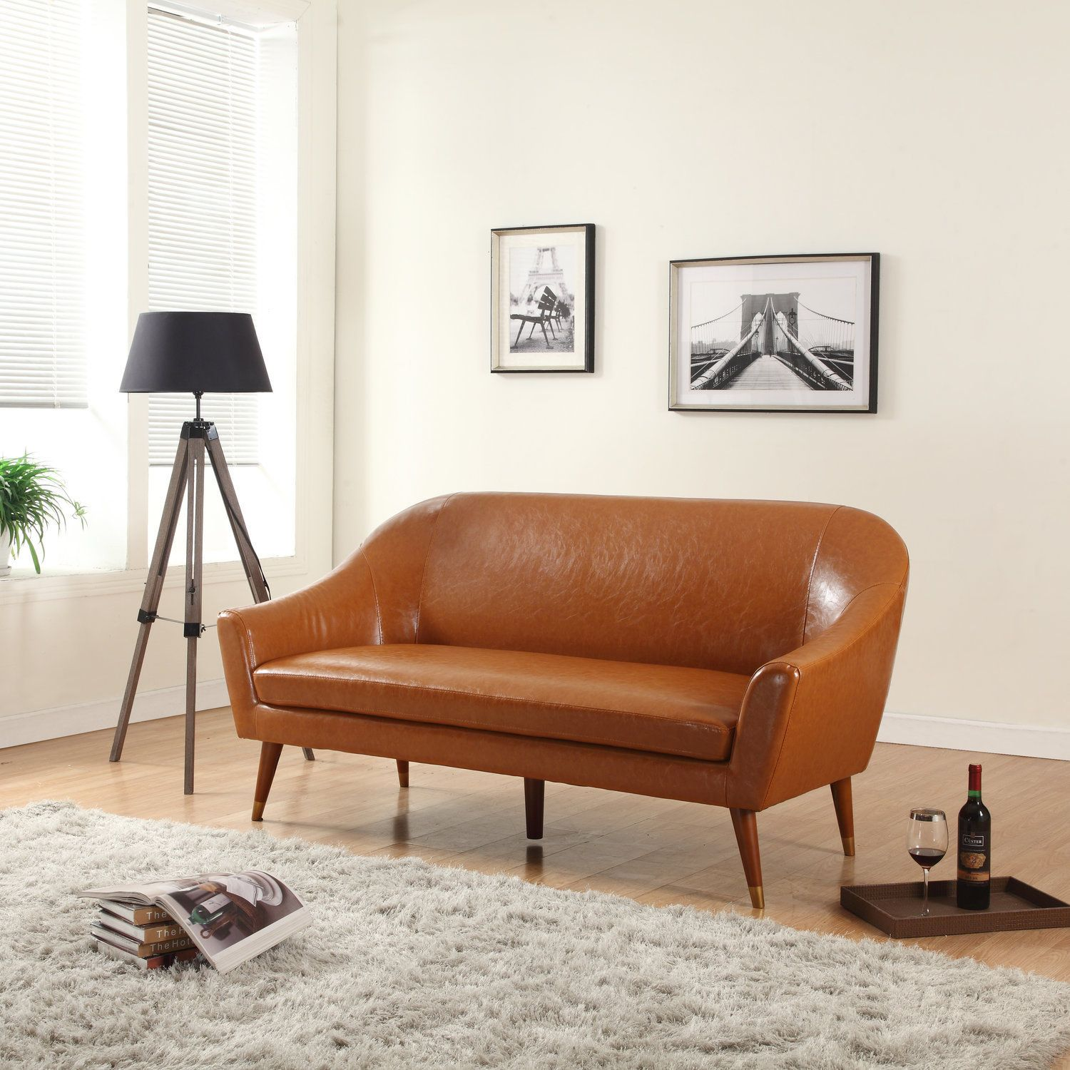 Groovy This Modern Mid Century Style Sofa Features Soft Durable Evergreenethics Interior Chair Design Evergreenethicsorg