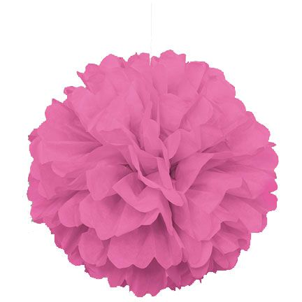 "Paper Puff Ball Decorations Impressive Hot Pink Puff Decor 16"" Includes 1 Pc Of Paper Puff Decor That Decorating Design"