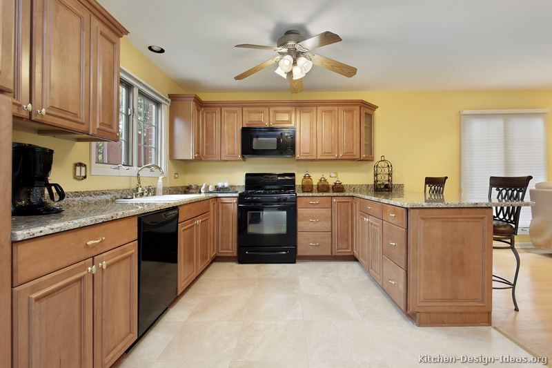 google image result for http www kitchen design ideas org images kitchen cabinets traditional on kitchen remodel yellow walls id=56490