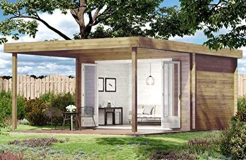 CARLSSON Holz Gartenhaus HOLSTEIN40 Blockbohlenhaus mit