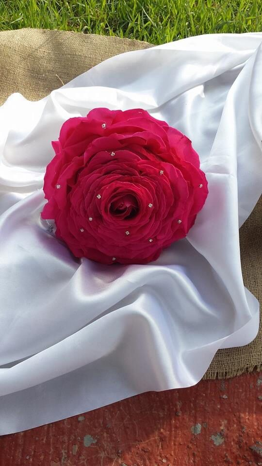 Giant rose bouquet made of individual rose petals Wedding flowers