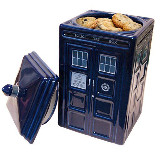 Boxed Doctor Who TARDIS Ceramic Cookie Jar Biscuit Storage Box