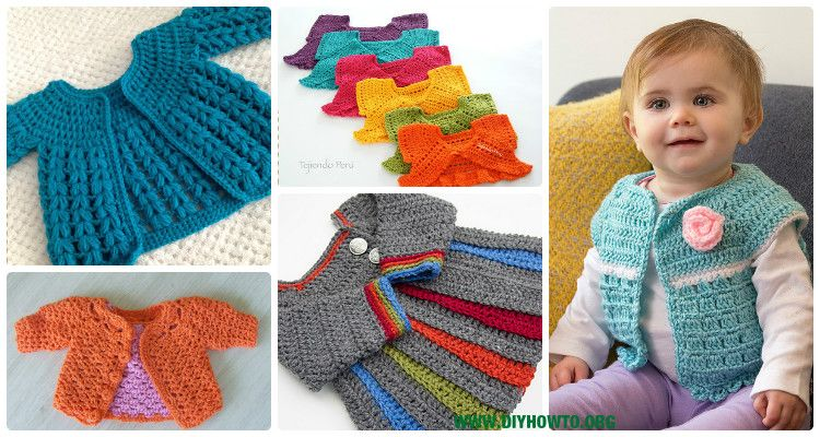 Crochet Kids Sweater Coat Free Patterns: Crochet Girls & Boys Sweaters,  Cardigans, shrugs, and more via @d… | Crochet baby sweaters, Crochet for  kids, Crochet baby