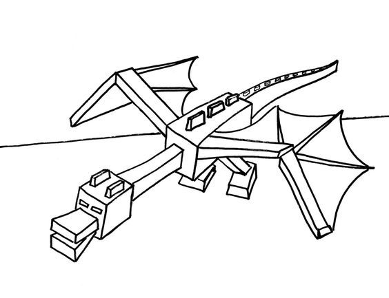 Download Or Print The Free Dragon Minecraft Coloring Page