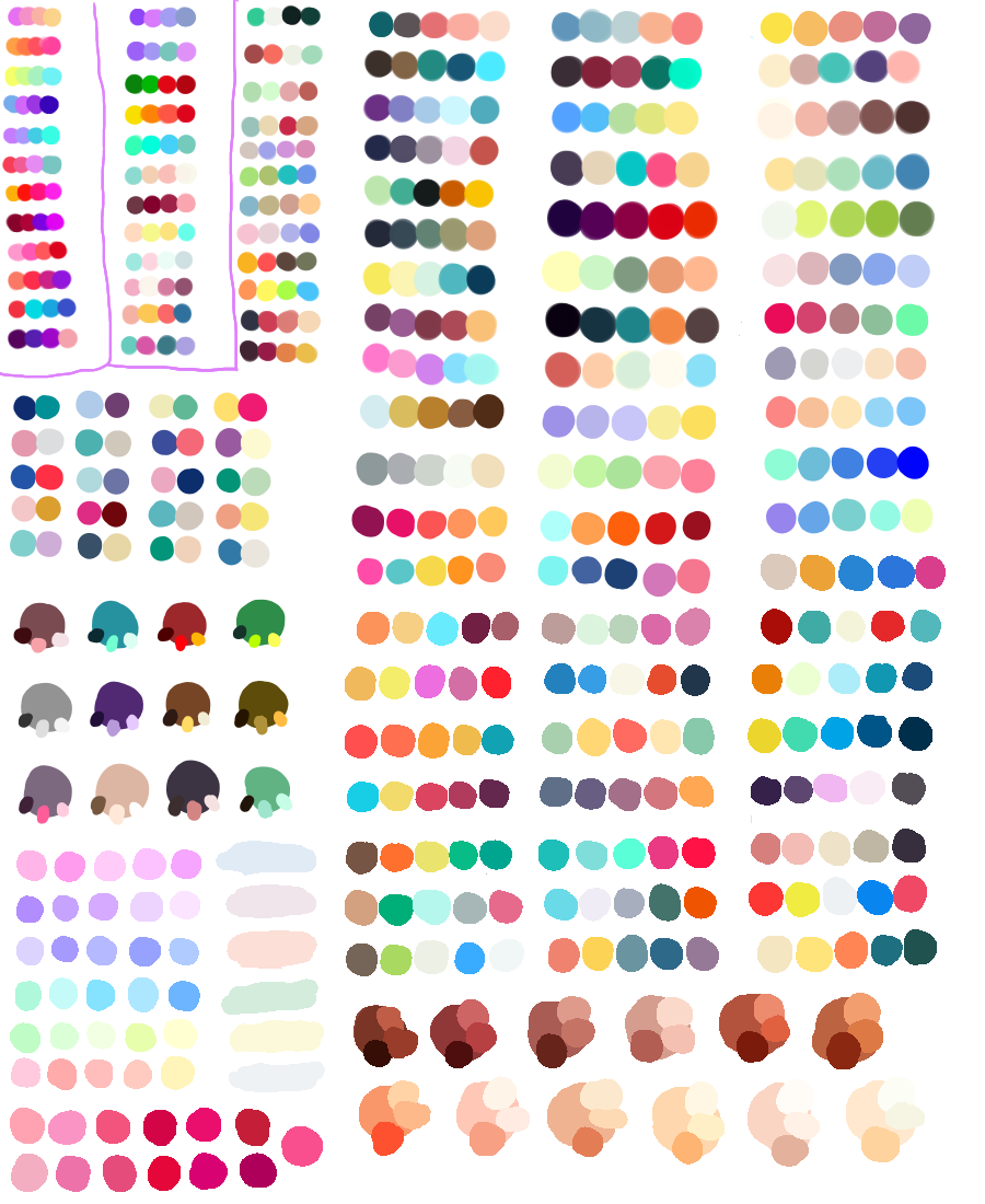 colorful palette color shades rainbow bright pastel ...