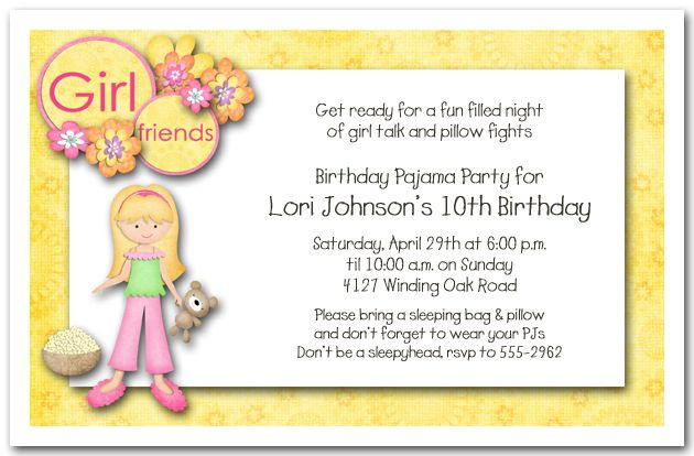 Pajama party birthday invitations my birthday pinterest pajama party birthday invitations filmwisefo Images