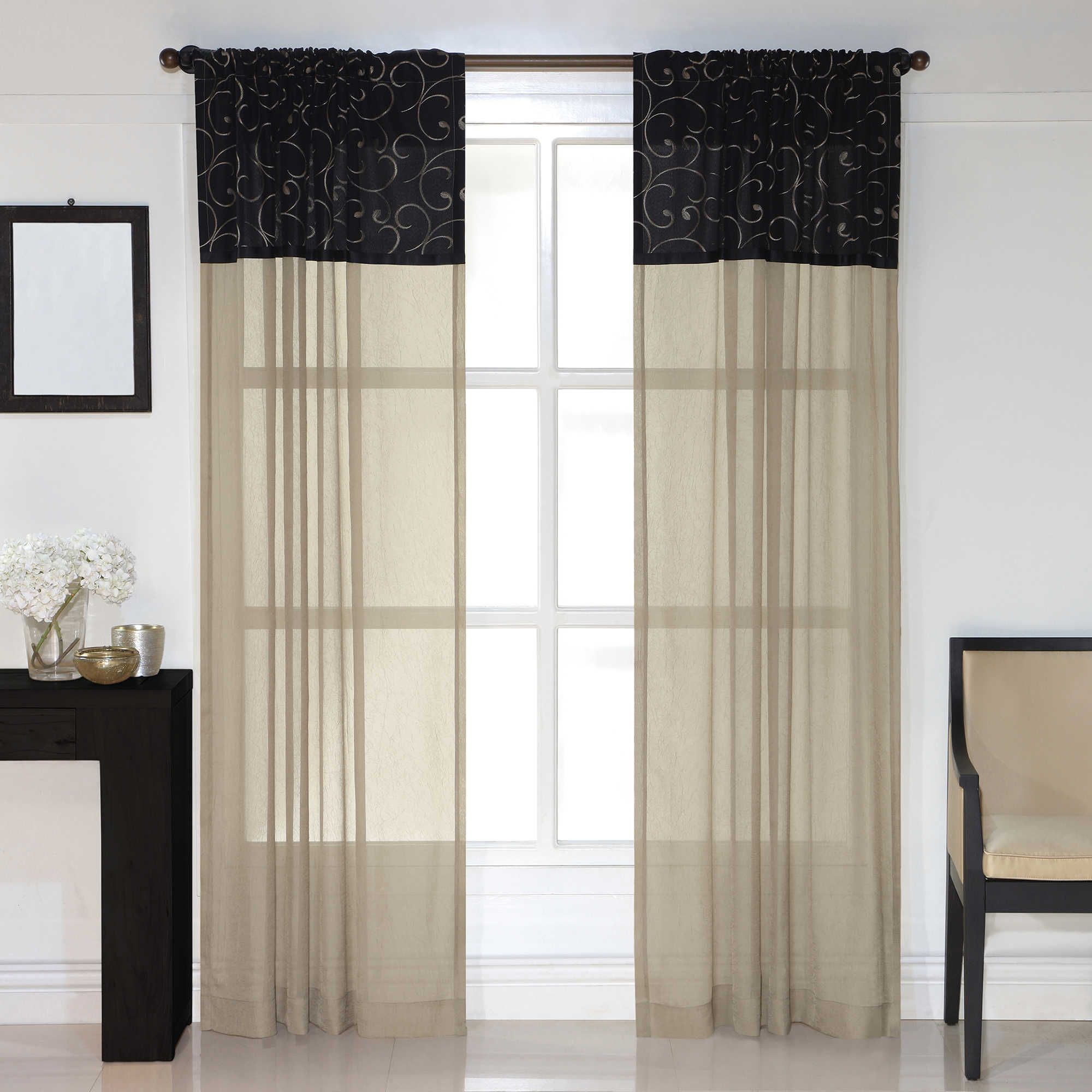 Westgate 84 Inch Rod Pocket Window Curtain Panel In Ivory Panel