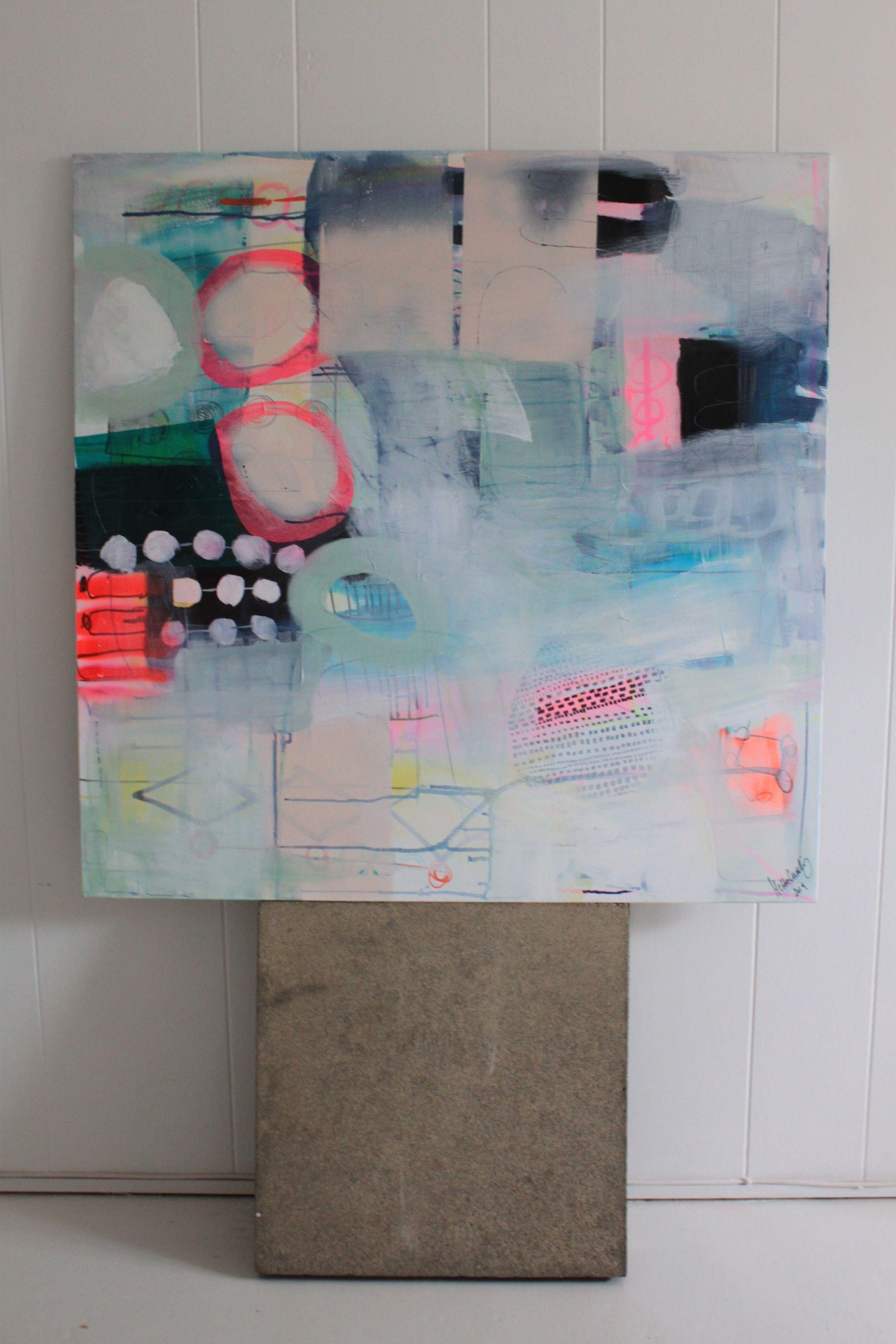 Maleri Med Pastelfarver Af Mette Lindberg Www Mettesmaleri Dk Art Painting Abstract Art Painting Art