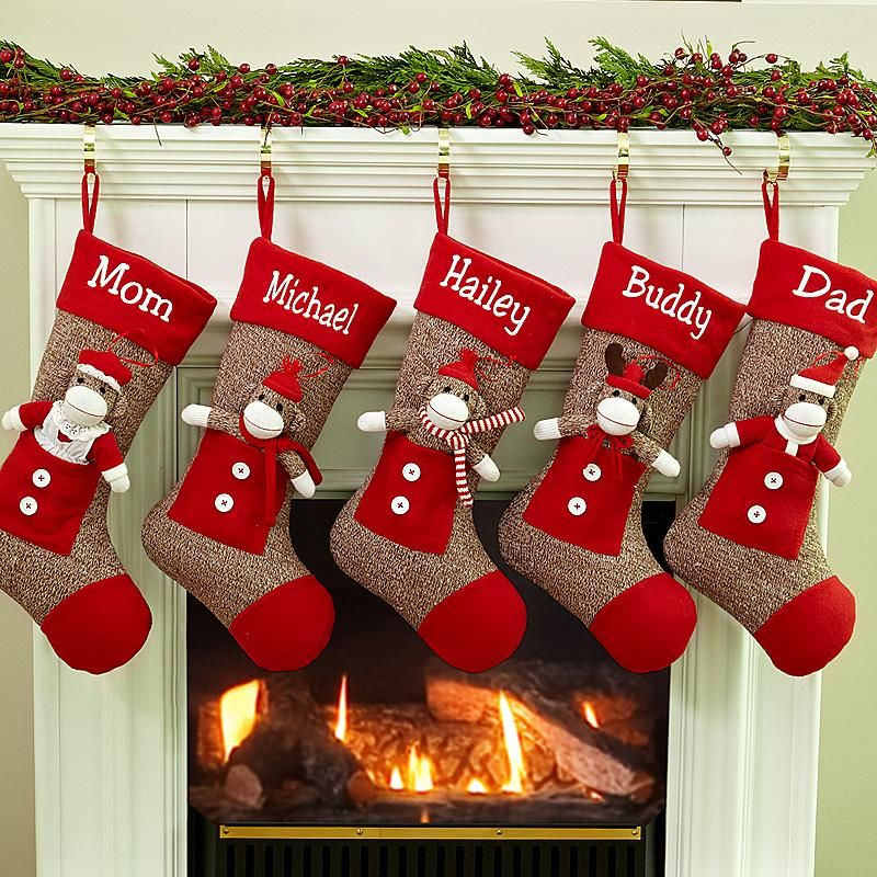 LOVELY CHRISTMAS STOCKINGS AT YOUR DOORSTEP | Monkey, Socks and ...