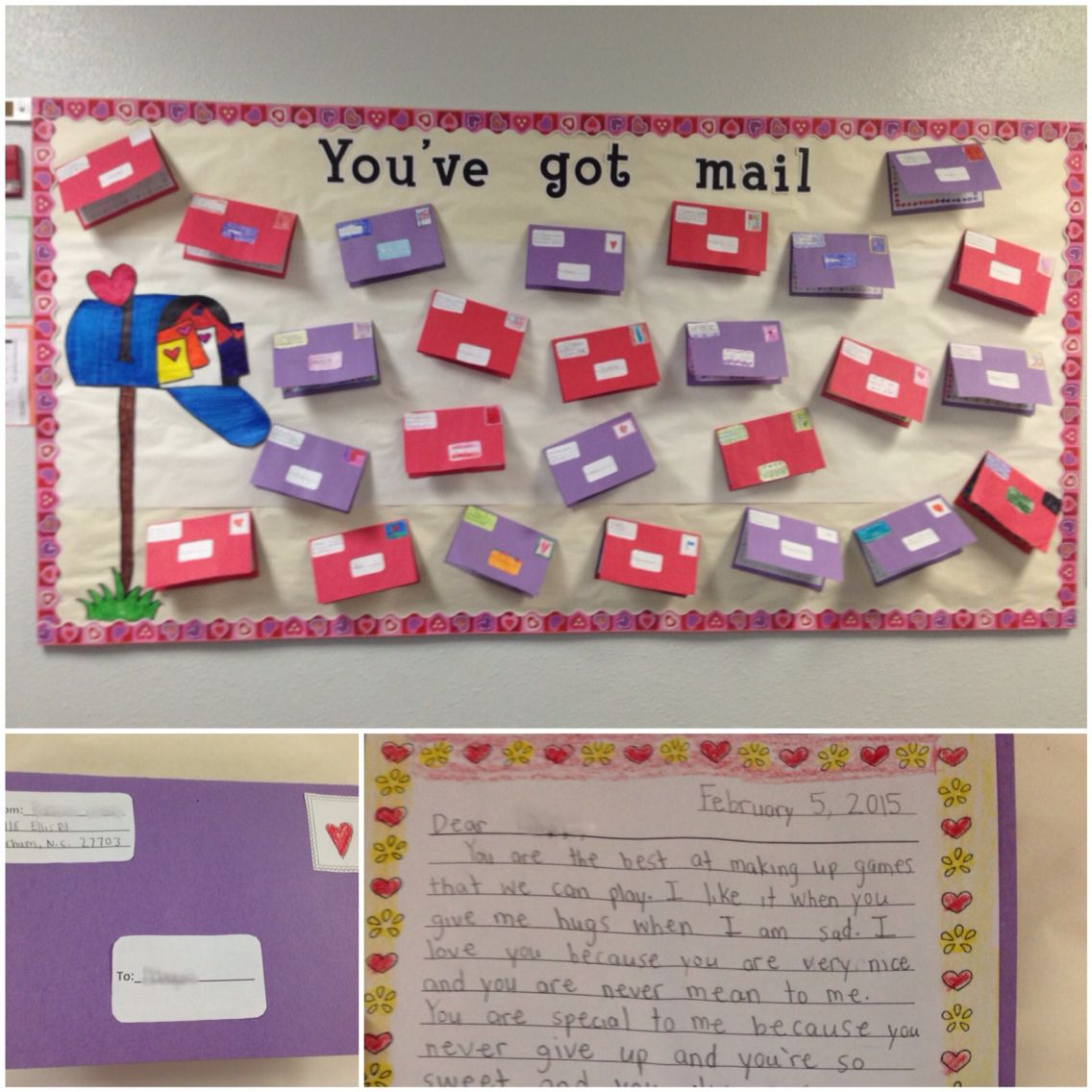 Friendly Letter Bulletin Board Idea Cute Simple And Easy To Do