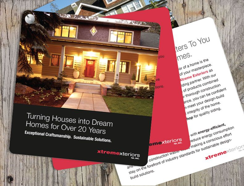 Home exteriors company services brochure - a handy 5x5 paneled - services brochure