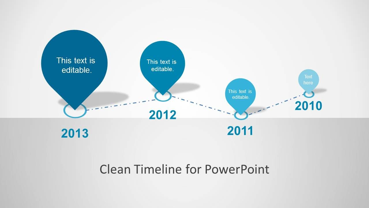 Clean Timeline Template For Powerpoint  Timeline Timeline Design