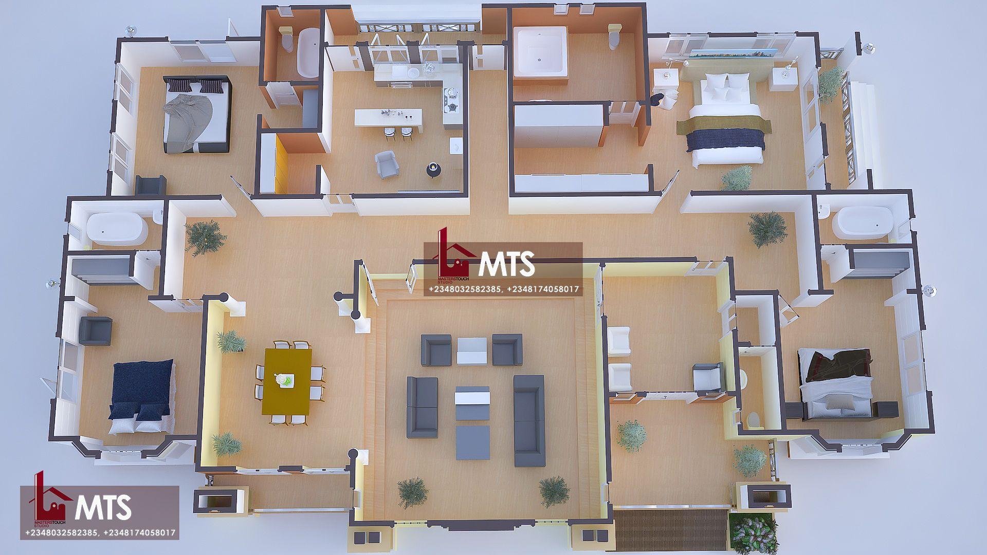 4 Bedroom Bungalow Design Rf 4015 Bungalow Design Architectural House Plans My House Plans