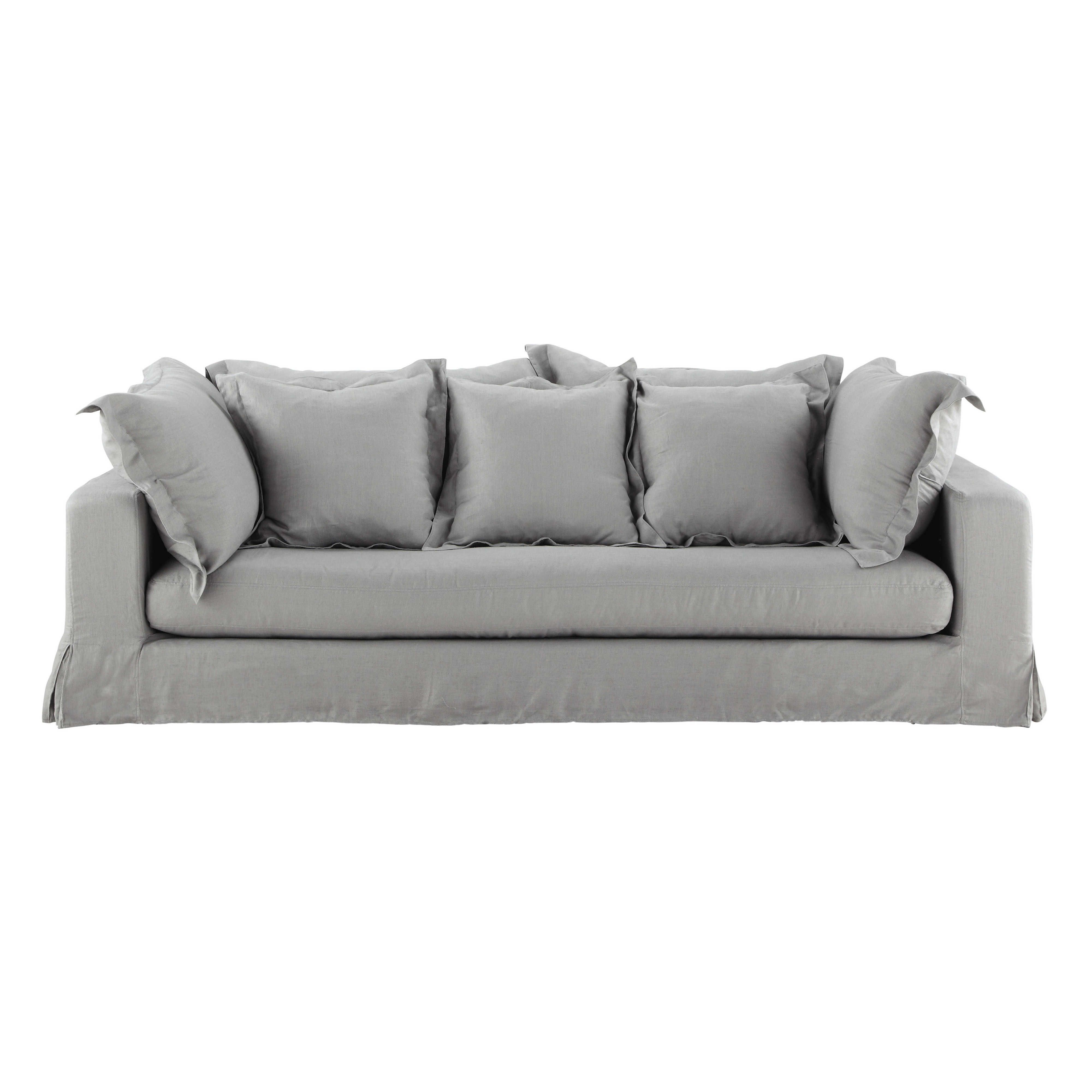 Canapé 3 places en lin lavé gris clair Achille | day bed en 2018 ...