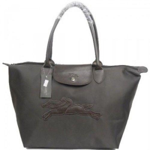 Pliage Longchamp Gris Au Galop Pas Sac CherMode Cheval Femme Ku1JTlcF3
