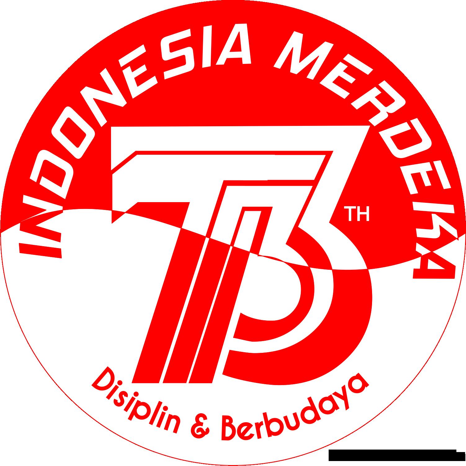 Logo 73 Tahun Indonesia Merdeka Displin Dan Berbudaya Menjadi