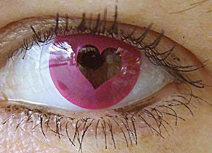 Heart Eye Contact Lens - this looks great! I wonder would our customers like us to add this kind of product to our Fashion Contact Lens collection?