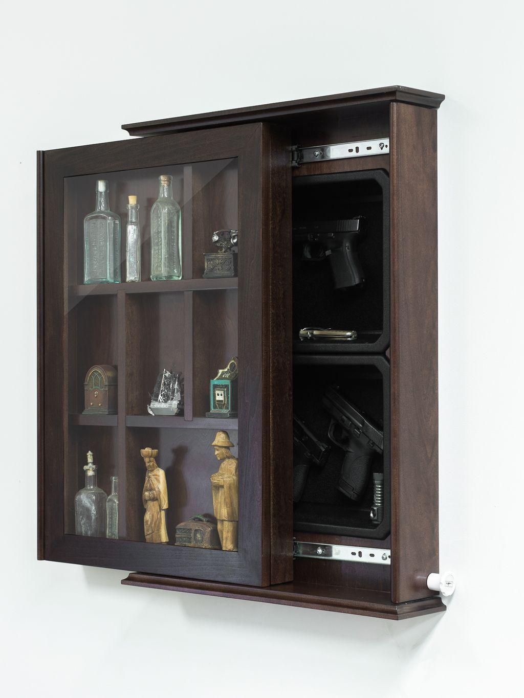 stashvault furniture cabinet rack concealed storage safe coat gun bench concealment benchcoat open secret hidden