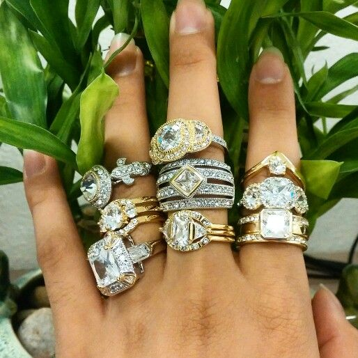 """Our """"Look of Real"""" rings"""