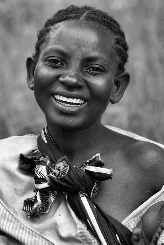 Africa |  Portrait of a girl taken in the DR Congo | © Palo Lajciak