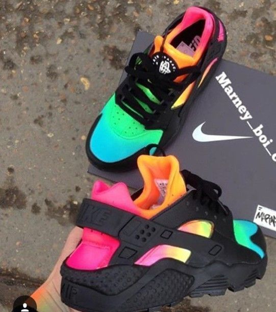 online store 9b635 e8046 Wheretoget - Rainbow, colorful Nike sneakers More