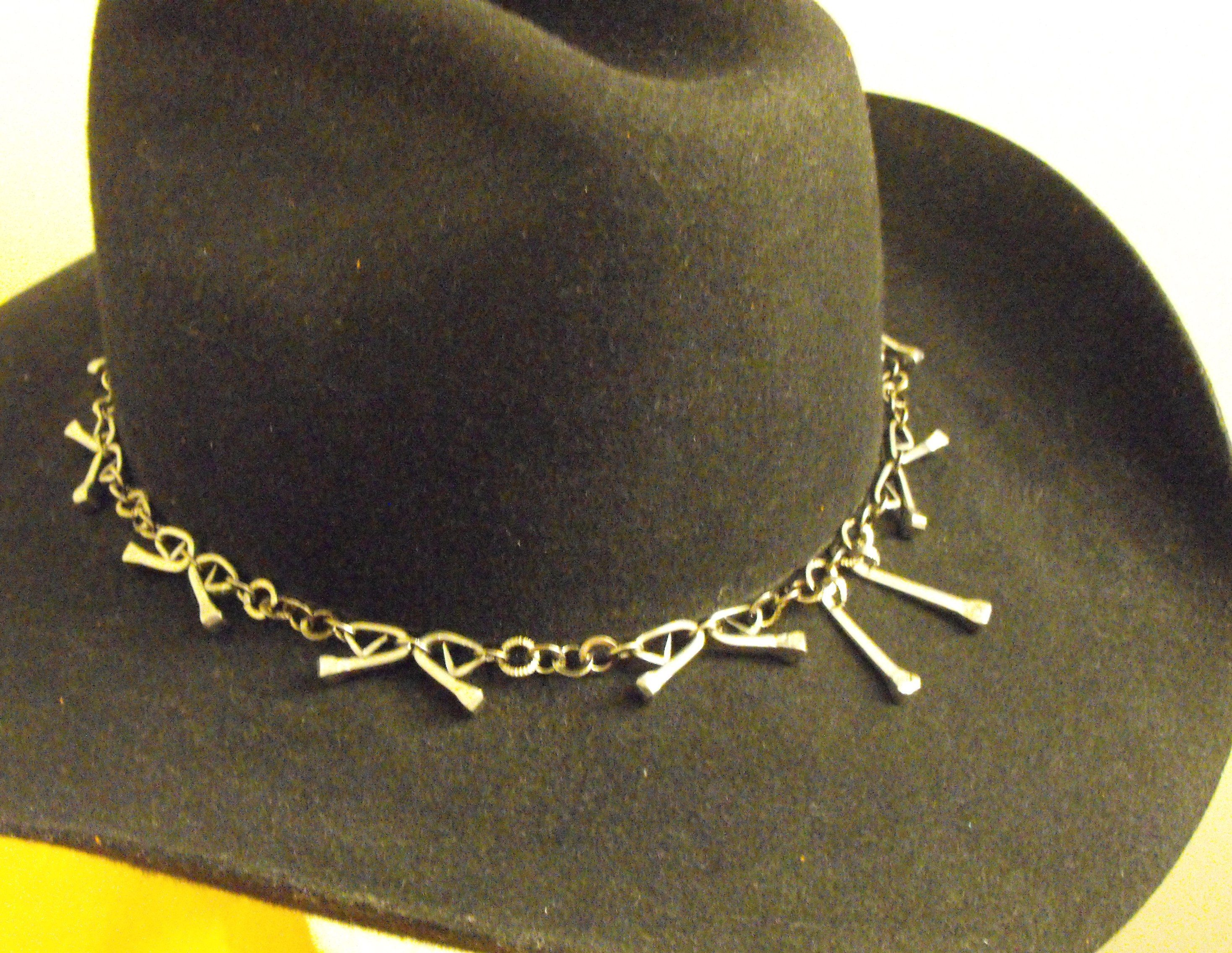 Horseshoe nail Hat band, by Jeremy. He\'s so good! lol | horseshoe ...