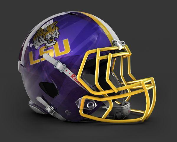 Concept Helmet Lsu Football Helmets Football College Football Helmets