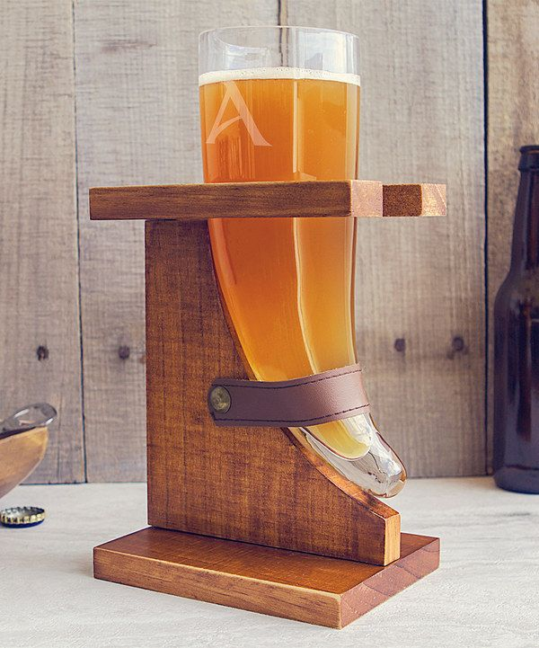Look at this Initial Viking Beer Horn Glass & Stand on #zulily today!