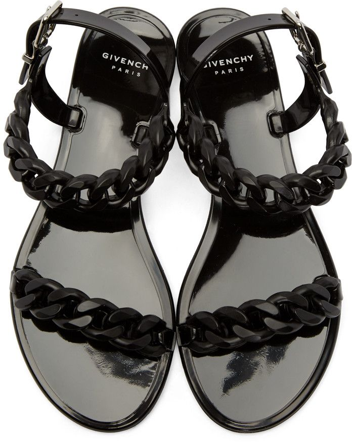 Givenchy - Black Jelly Chain Sandal