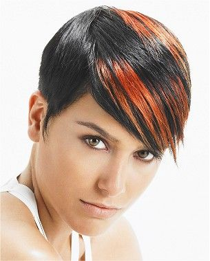 short brown straight coloured multi-tonal hairstyle | Hair ...