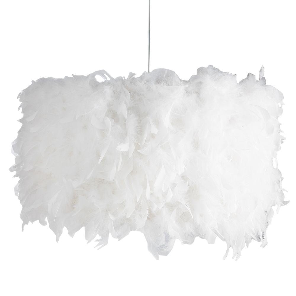 suspension en tissu blanche d 55 cm plumes chambre d co pinterest suspension plumes et. Black Bedroom Furniture Sets. Home Design Ideas
