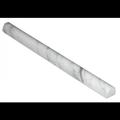 Italian White Carrara Marble 3 4 X 12 Bullnose Pencil Liner Trim Molding Mosaic