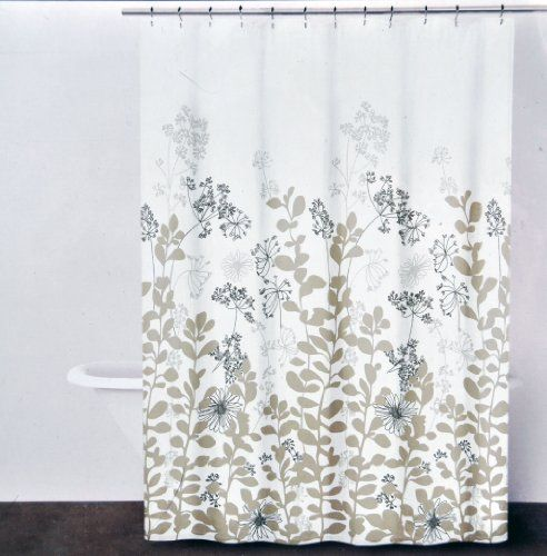 Dkny Enchanted Forest Fabric Shower Curtain Tan Beige On Ivory 72