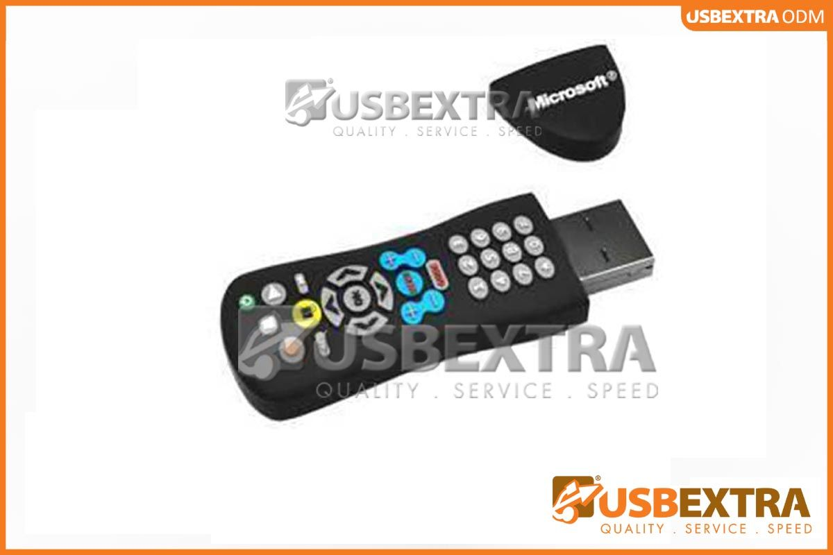 custom usb flash drives commissioned in the shape of a remote control