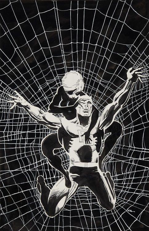 Original cover art by Frank Miller from Daredevil #188, published by Marvel, November 1982.