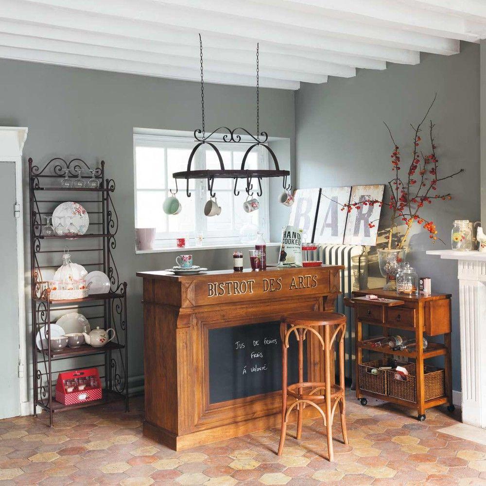 Meuble De Bar Bistrot En Manguier Massif Maisons Du Monde Meuble Bar Deco Maison Du Monde Meuble Bar Comptoir