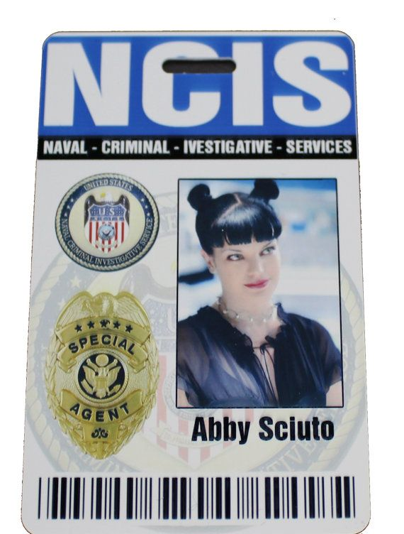 Special Agent from NCIS Magnetic Fastener Name Badge Halloween Costume Prop CAITLIN TODD