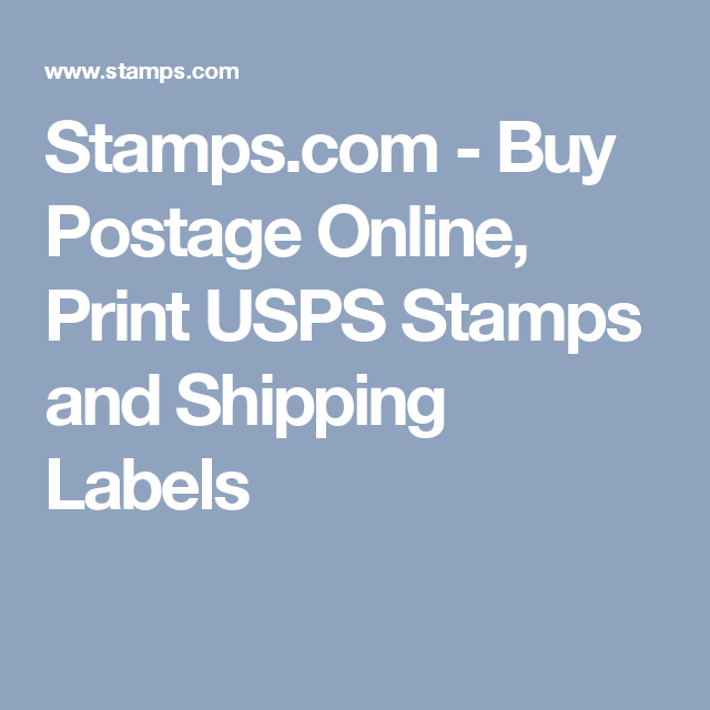 Stamps Com Buy Postage Online Print Usps Stamps And