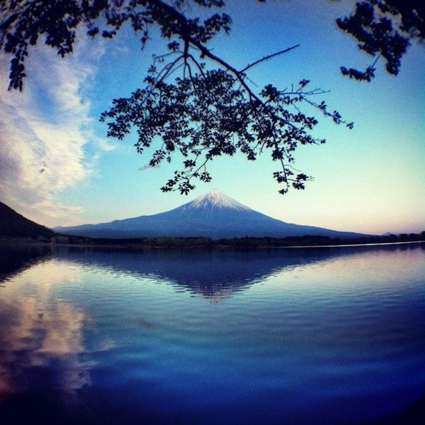 Mt.Fuji & Moon #webstagram