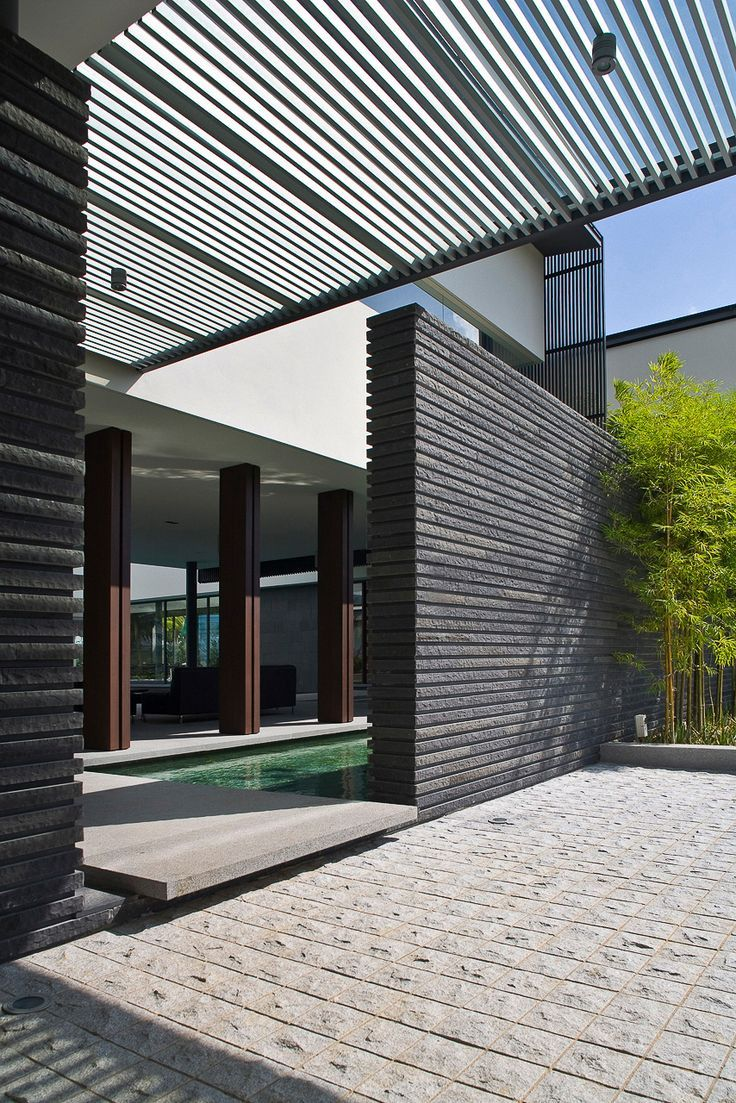 Architecture Interesting Exterior Home Design With: パティオ, 建築, 外構