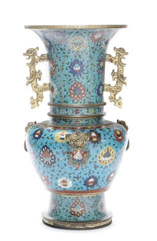 A rare large gilt-bronze and cloisonné enamel vase, yen yen 15th/early 16th century and 17th century CHINESE ANTIQUES : More At FOSTERGINGER @ Pinterest