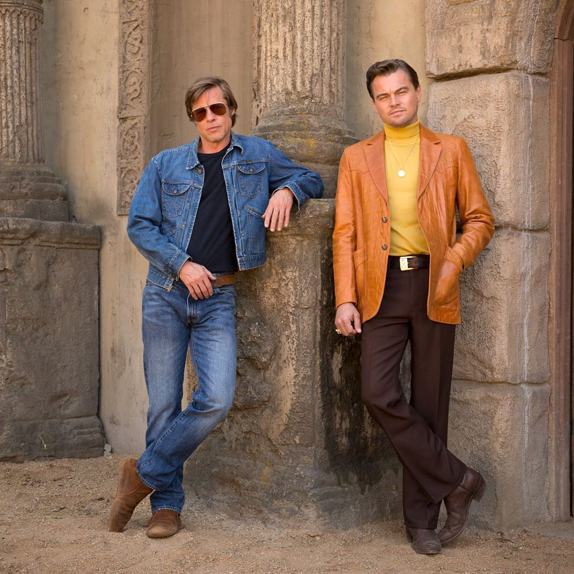 Leonardo Dicaprio Brad Pitt Serve 60s Fashion In First Look At Quentin Tarantino S Once Upon A Time In Hollywood Leonardo Dicaprio Brad Pitt Hollywood