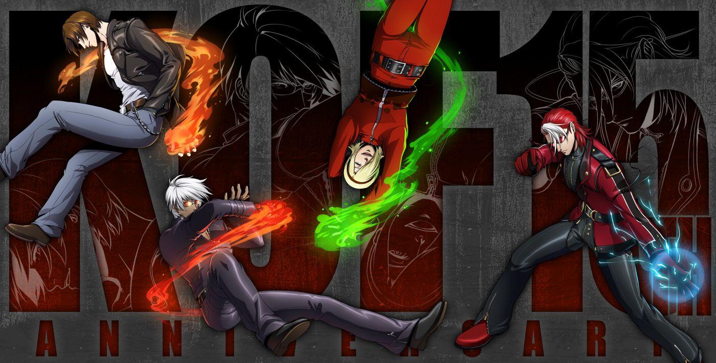 the king of fighters wallpaper - kyo kusanagi, k' dash, ash crimson