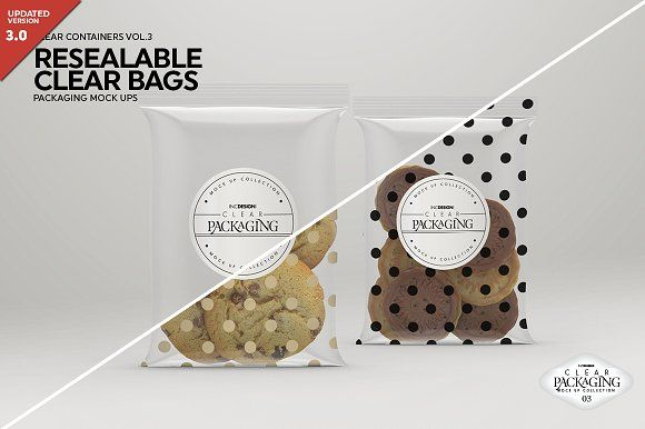 Download Clear Resealable Bags Mockup Bag Mockup Business Card Mock Up Business Card Logo