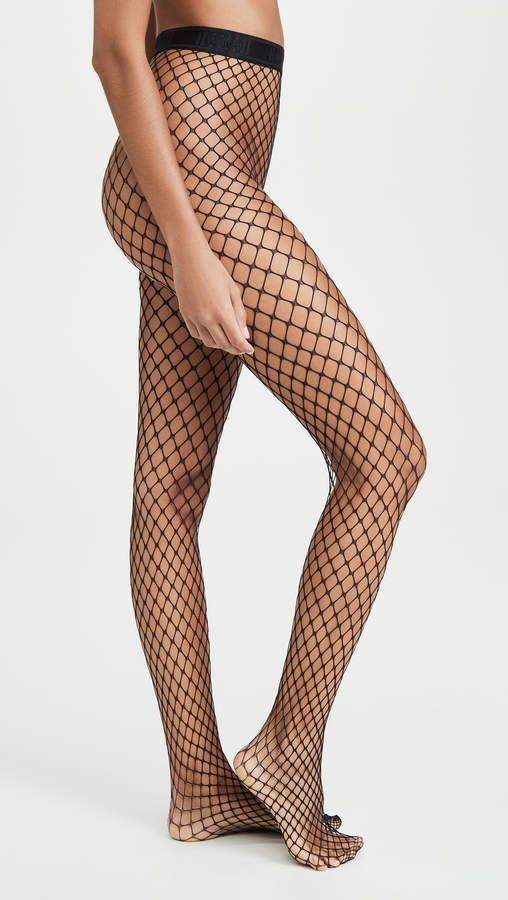 Black Pattern Hold Up Stockings 259