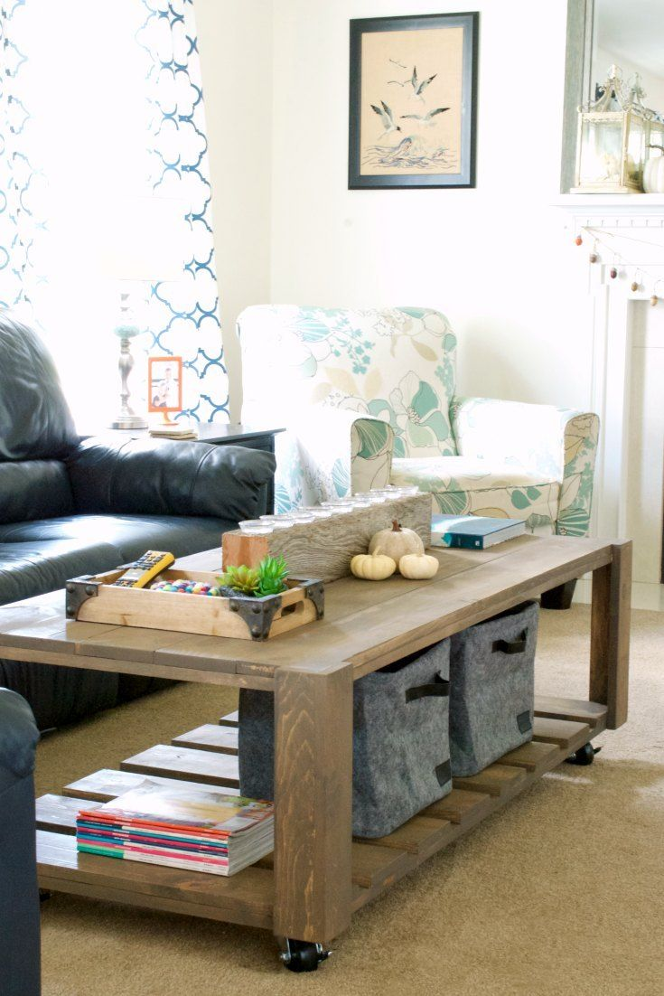 Building a DIY Coffee Table is actually way easier than you'd think!