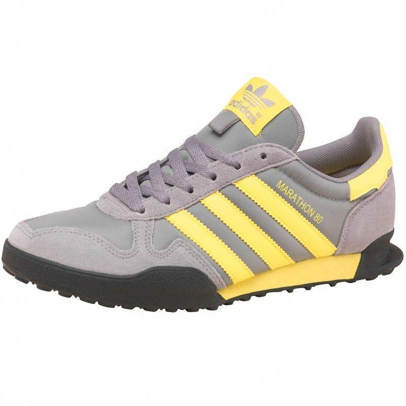 Adidas Originals Herren Marathon 80 Sneaker Grau Gelb Schwarz Auf Mandmdirect De Mensfashionsneakers Sneakers Men Fashion Adidas Shoes Mens Sneakers
