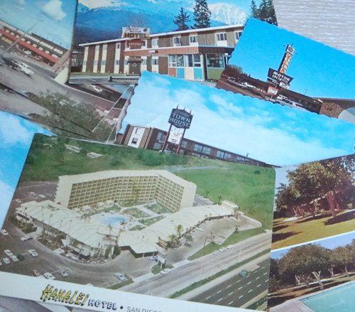 1960s Travel Postcards . 9 Unused Motel Hotel Souvenir Post Cards by kitschbitchvintage, $9.00